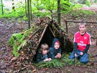 Dry and snug in their new camp