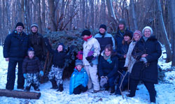 Winter wonderland was the setting for the February family bushcraft day